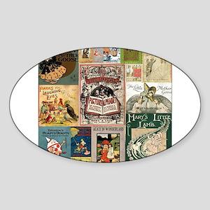 Vintage Book Cover Illustrations Sticker