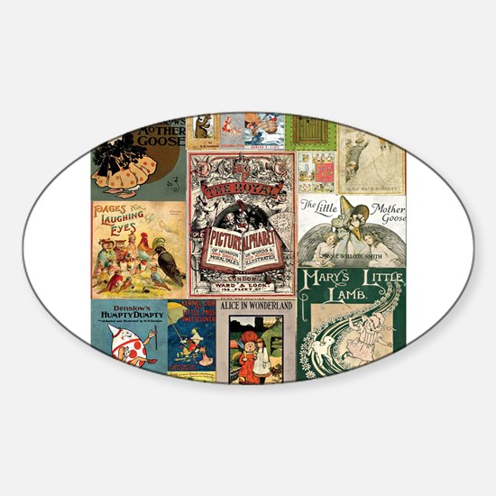 Vintage Book Cover Illustrations Decal