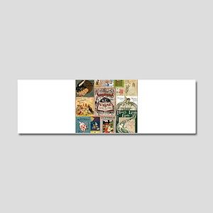 Vintage Book Cover Illustrations Car Magnet 10 x 3
