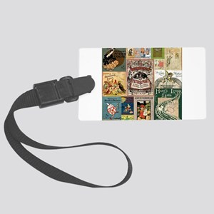 Vintage Book Cover Illustrations Luggage Tag