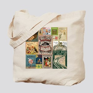 Vintage Book Cover Illustrations Tote Bag