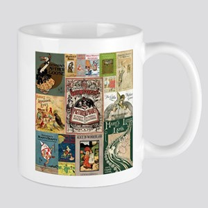 Vintage Book Cover Illustrations Mugs
