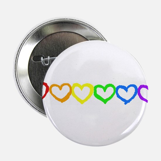 Rainbow of hearts Button