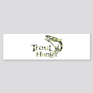 TROUT HUNTER Bumper Sticker
