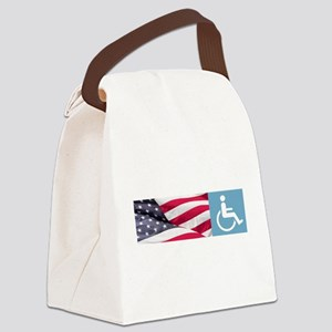 Disabld Veteran Canvas Lunch Bag