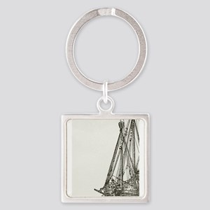 Pirate Ship Illustration Keychains