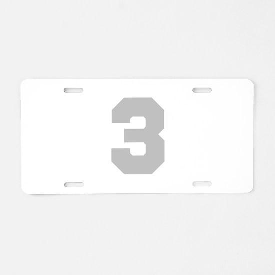 SILVER #3 Aluminum License Plate