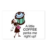 Coffee Perks Me Up Postcards (Package of 8)