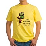 Coffee Perks Me Up Yellow T-Shirt