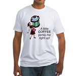 Coffee Perks Me Up Fitted T-Shirt