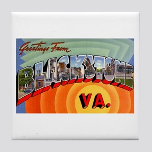 Blackstone Virginia Greetings Tile Coaster
