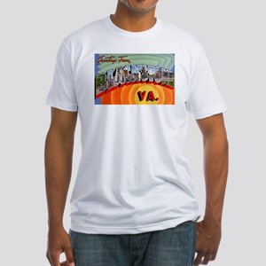 Blackstone Virginia Greetings (Front) Fitted T-Shi