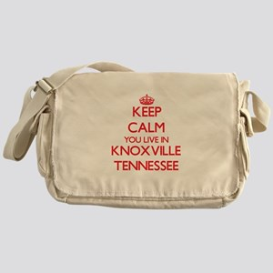 Keep calm you live in Knoxville Tenn Messenger Bag