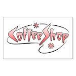 Retro Coffee Shop Rectangle Sticker