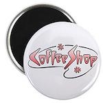 Retro Coffee Shop Magnet