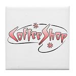 Retro Coffee Shop Tile Coaster