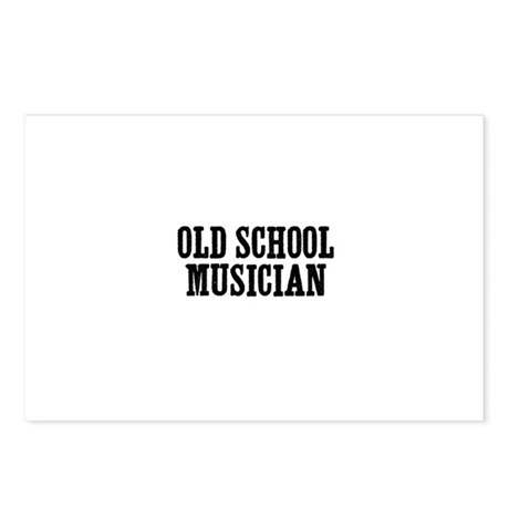 old school musician Postcards (Package of 8) by youshred