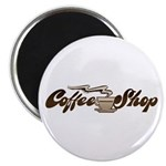 Vintage Coffee Shop Magnet