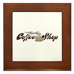Vintage Coffee Shop Framed Tile