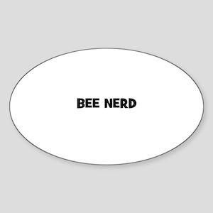 bee nerd Oval Sticker