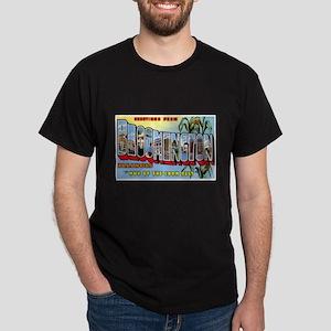 Bloomington Illinois Greetings (Front) Dark T-Shir