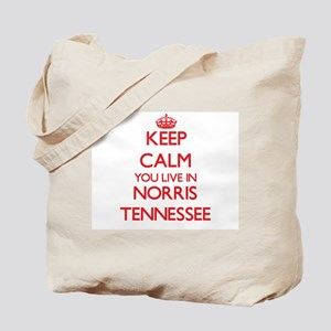 Keep calm you live in Norris Tennessee Tote Bag