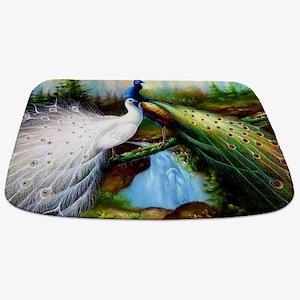 Two Peacocks Bathmat