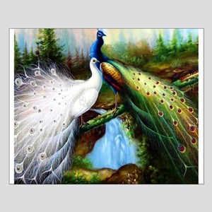 Two Peacocks Small Poster