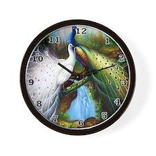 Two Peacocks Wall Clock
