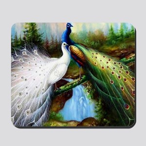 Two Peacocks Mousepad