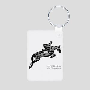 NBT Jumping Horse Aluminum Photo Keychain