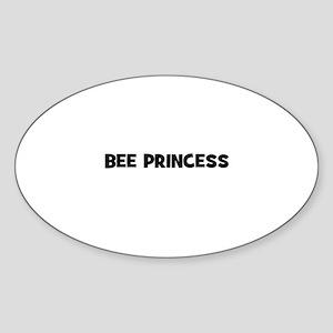 bee princess Oval Sticker
