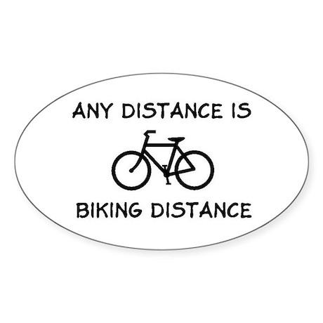 Any Distance Oval Sticker