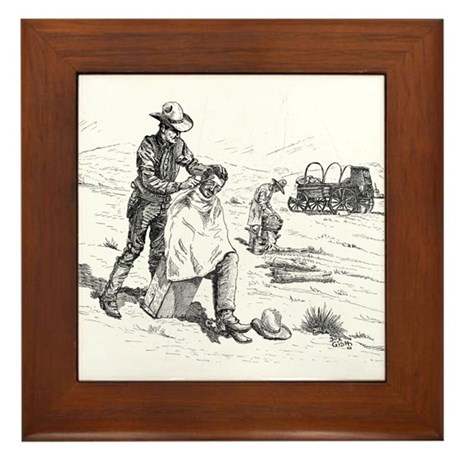 Prairie Barber Framed Tile