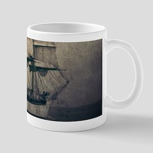 vintage pirate ship landscape Mugs