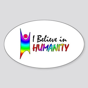 Humanist Oval Sticker