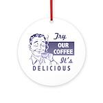 Coffee Shop Ad Ornament (Round)