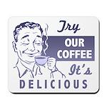 Coffee Shop Ad Mousepad
