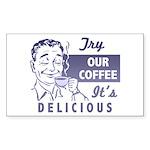 Coffee Shop Ad Rectangle Sticker