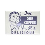 Coffee Shop Ad Rectangle Magnet