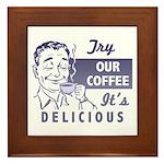 Coffee Shop Ad Framed Tile