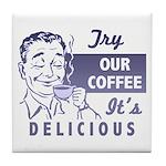 Coffee Shop Ad Tile Coaster
