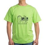 Coffee Shop Ad Green T-Shirt