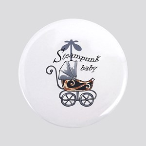 "STEAMPUNK BABY 3.5"" Button"