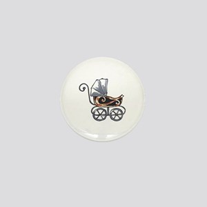 ANTIQUE BABY CARRIAGE Mini Button