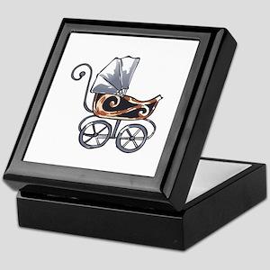 ANTIQUE BABY CARRIAGE Keepsake Box