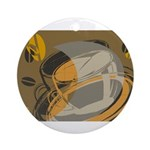 Abstract Coffee Shop Ornament (Round)