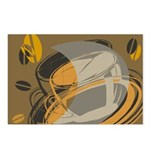 Abstract Coffee Shop Postcards (Package of 8)