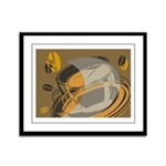 Abstract Coffee Shop Framed Panel Print