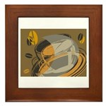 Abstract Coffee Shop Framed Tile